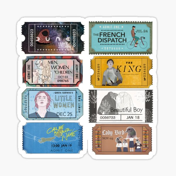 Timothée Chalamet Movies [READ NOTES FIRST] Sticker