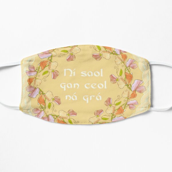 Logo with Gaelic Quote - There is no life without music or love ~  Flat Mask