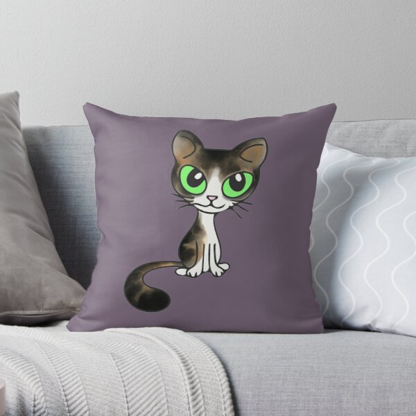 Tabby Kitty Throw Pillow
