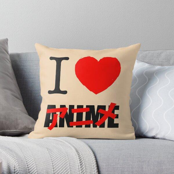 I love Anime 2 Throw Pillow
