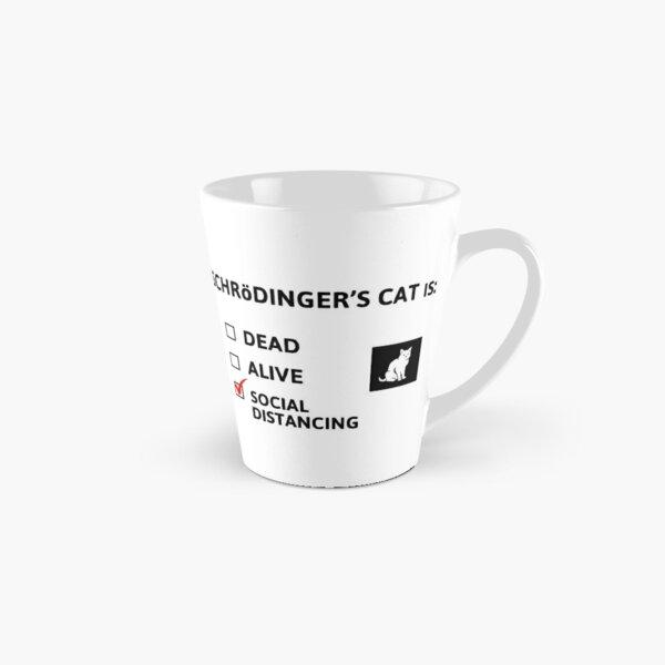 Schrödingers soziale Distanzierung Tasse (konisch)