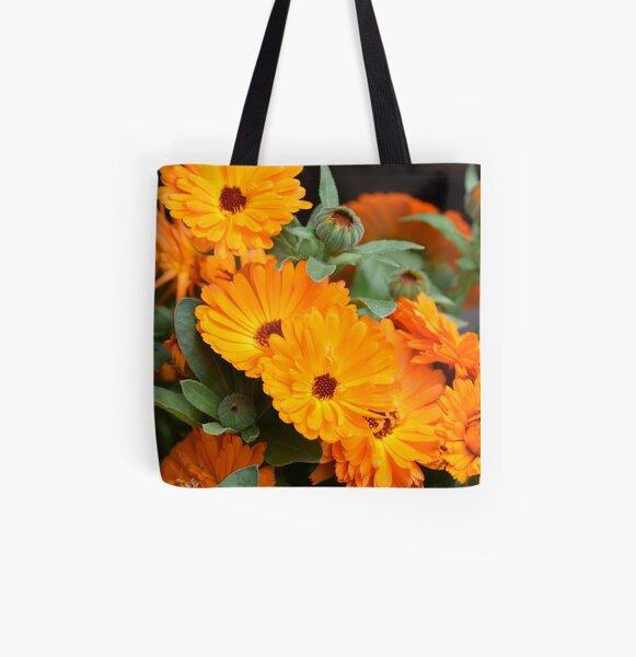 Pot marigold All Over Print Tote Bag