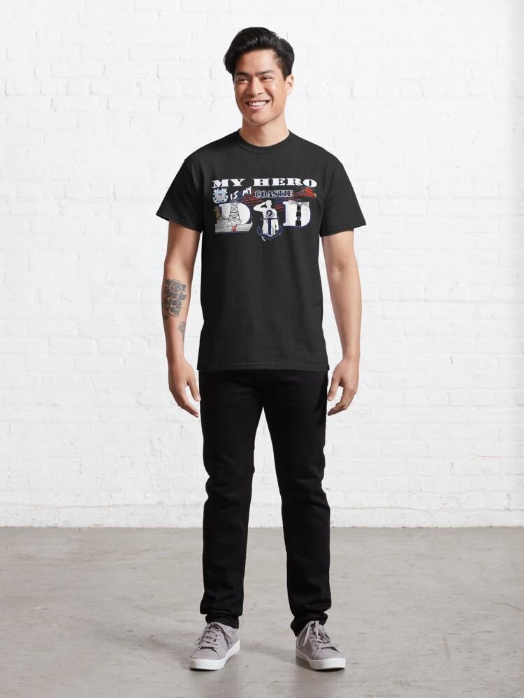 Alternate view of My hero is my Coastie Dad Classic T-Shirt