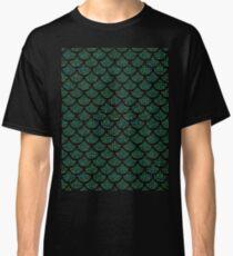 green sequin mermaid merman Classic T-Shirt