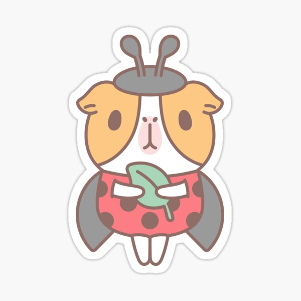Guinea pig in Ladybug Costume  Sticker