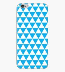 triangle waterfall (cyan) iPhone Case