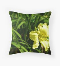Yellow amidst the green Throw Pillow