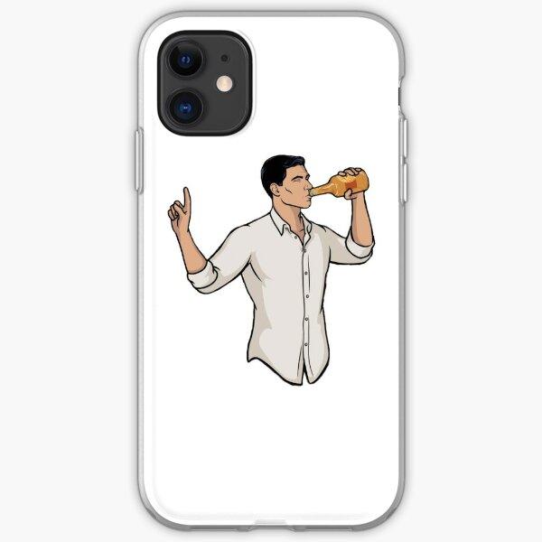 Archer drinking iPhone Soft Case