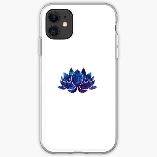 Blaues Lotus-Aquarell iPhone Flexible Hülle