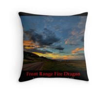 Front Range Fire Dragon Throw Pillow