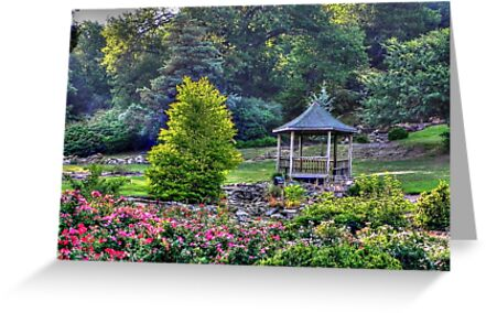 Good Morning Rose Garden Greeting Cards By Bannercgtl10 Redbubble