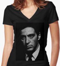 Camiseta entallada de cuello en V El padrino: sé que eras tú, Fredo.