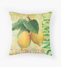 Froyo Lemons Throw Pillow