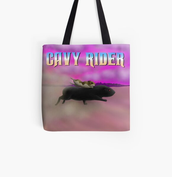 Cavy Rider All Over Print Tote Bag