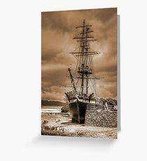 The Brig Amity in Sepia Greeting Card