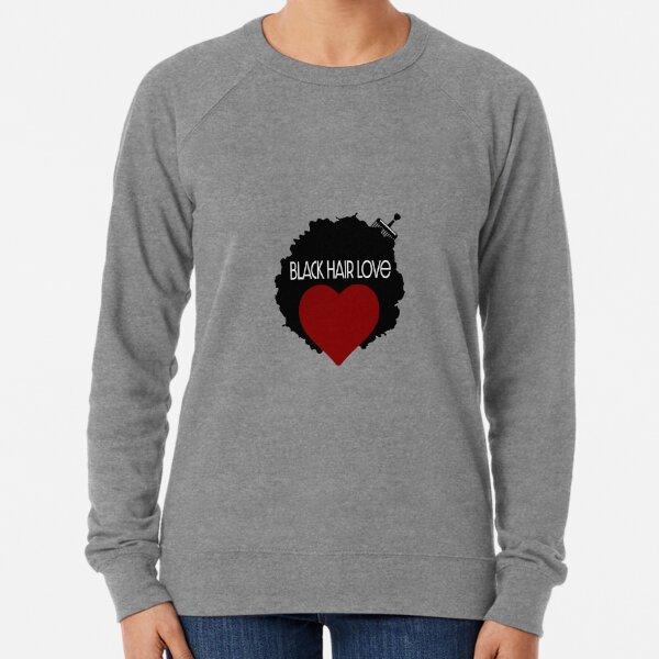 Black Hair Love Lightweight Sweatshirt