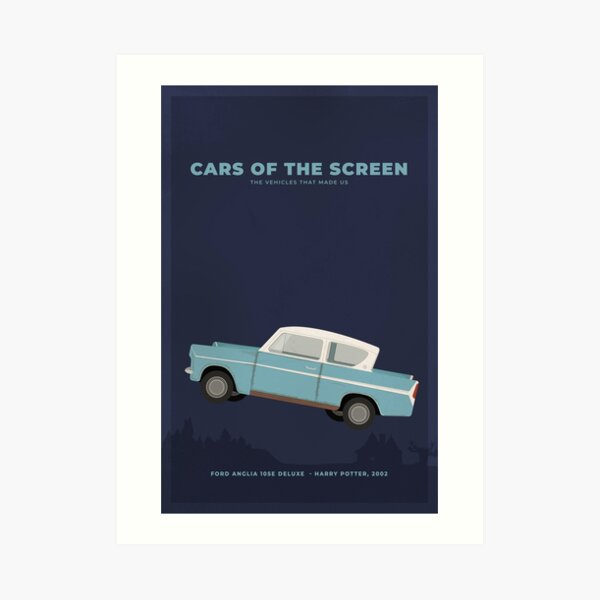 Cars of the Screen - Ford Anglia 105E Deluxe - Harry Potter, 2002 Art Print