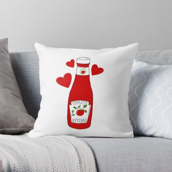 Ketchup love Throw Pillow