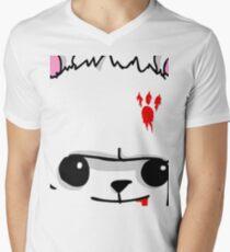 Castle Crashers Bear Face Men's V-Neck T-Shirt