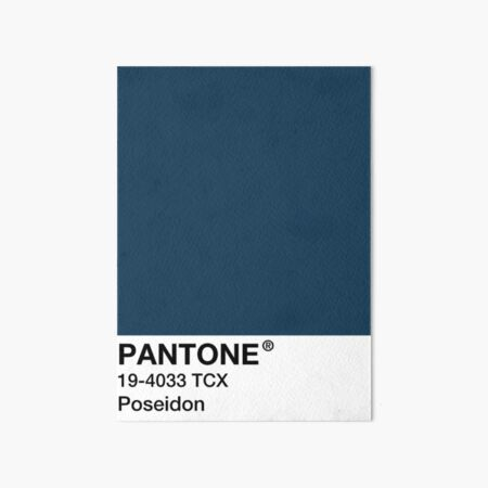 PANTONE Poseidon - Blue / Navy Blue Art Board Print