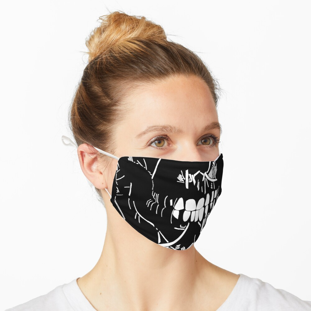 One Eyed Skull | Graveyard | Black and White Mask