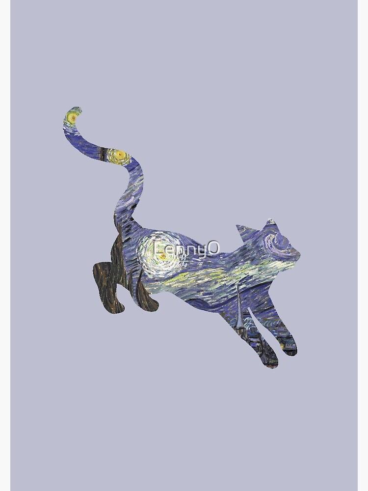 Starry Night Cat by Lenny0