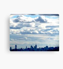 Clouds over New York City Canvas Print