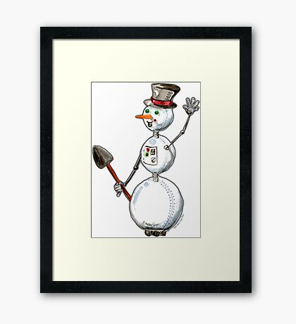 SnowBot Framed Print