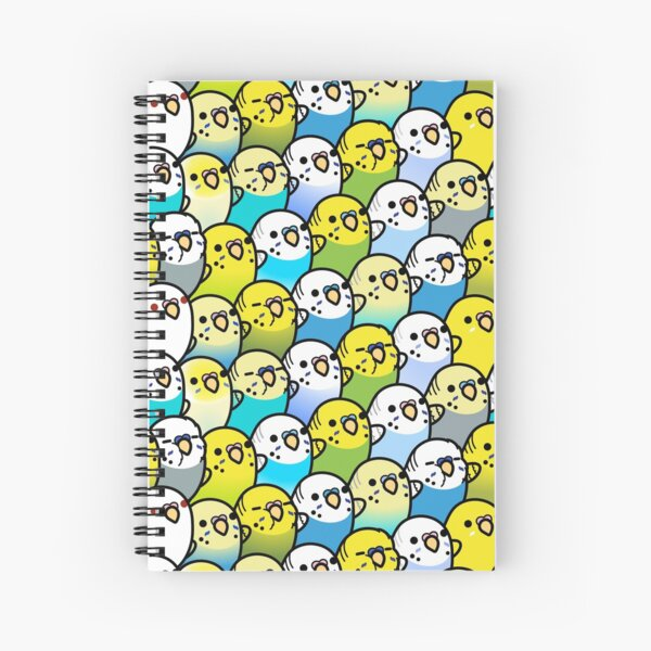 Bunches of Budgies  Spiral Notebook