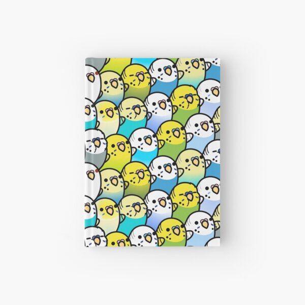 Bunches of Budgies  Hardcover Journal