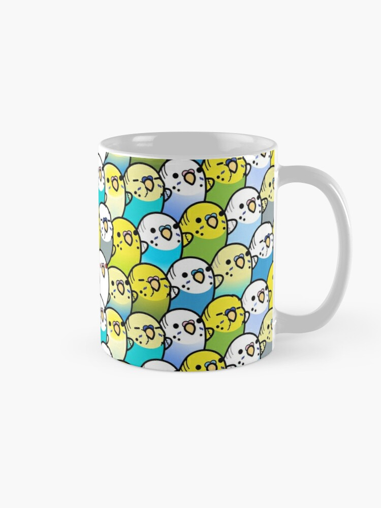 Alternate view of Bunches of Budgies  Mug