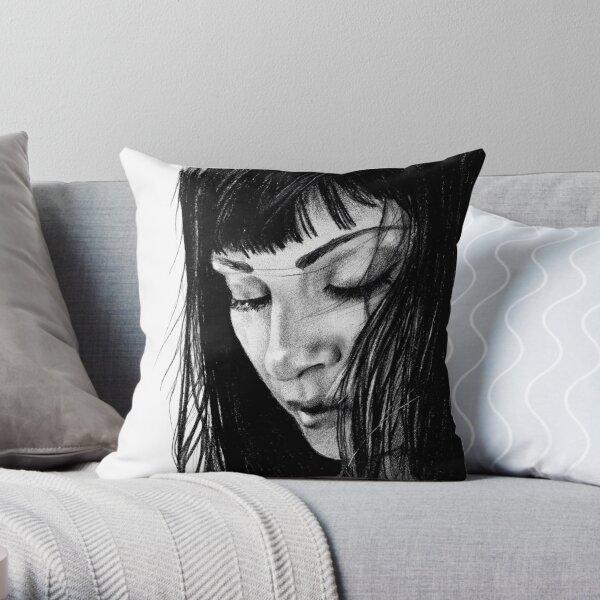 drawing of Najwa Nimri Throw Pillow
