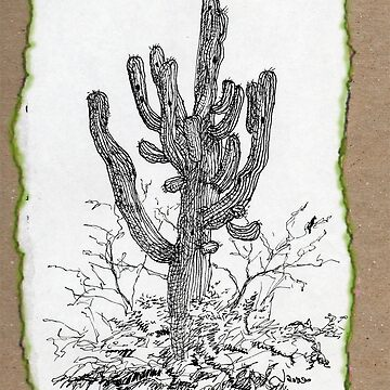 Giant Saguaro ARIZONA tee by JamesLHamilton