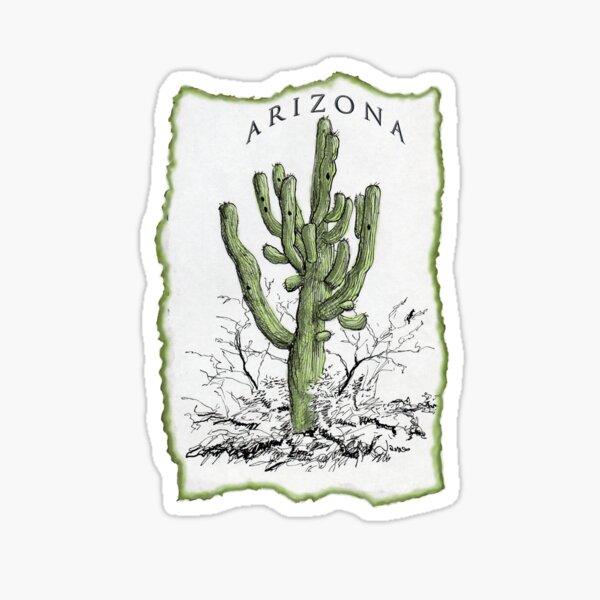 Giant Saguaro ARIZONA tee Sticker