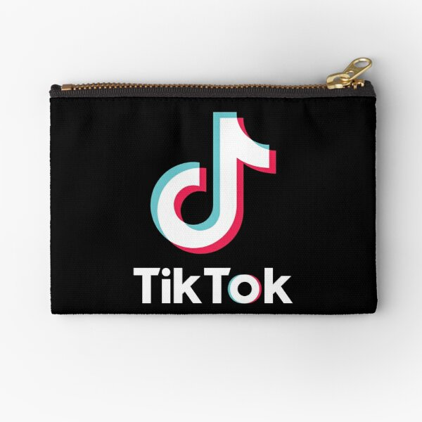 TIK TOK Logo - Social Media Zipper Pouch