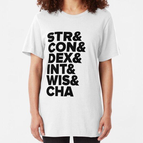 D&D Characteristics Abbreviated Slim Fit T-Shirt