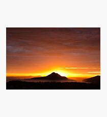 Yacabba Headland Firey Sunrise Photographic Print