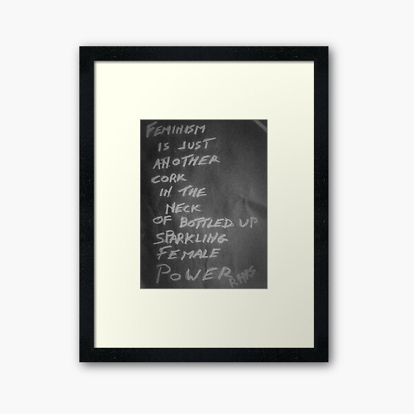 PUNK FEMINISM Framed Art Print