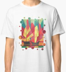 Happy Father's Day Cubist Abstract of Junk Sails and Ocean Skies Classic T-Shirt