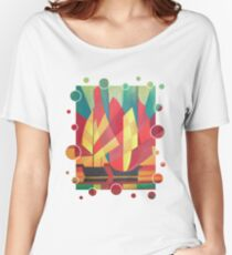 Happy Father's Day Cubist Abstract of Junk Sails and Ocean Skies Women's Relaxed Fit T-Shirt