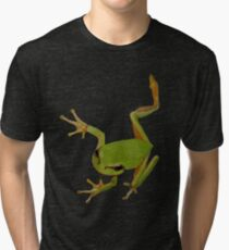 European Green Tree Frog Isolated Tri-blend T-Shirt
