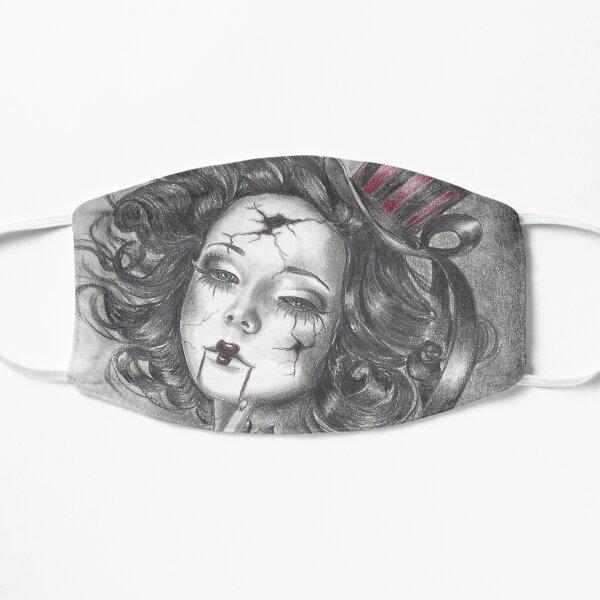 Garnet Birthstone Art Broken Doll Carnival Doll Mask