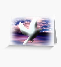 The Messenger of Freedom. Greeting Card
