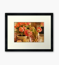 soft warm colours Framed Print