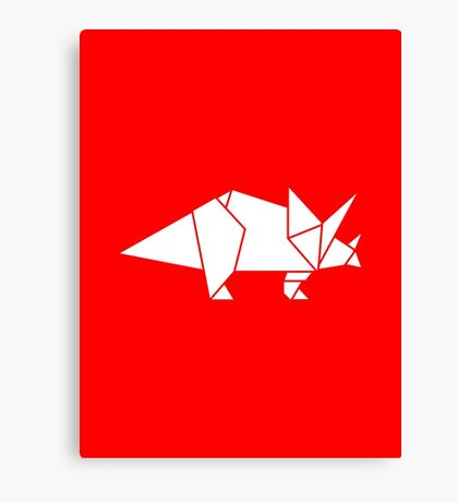 Prehistoric Origami - Triceratops  Canvas Print