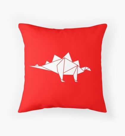 Prehistoric Origami - Stegosaurus Throw Pillow