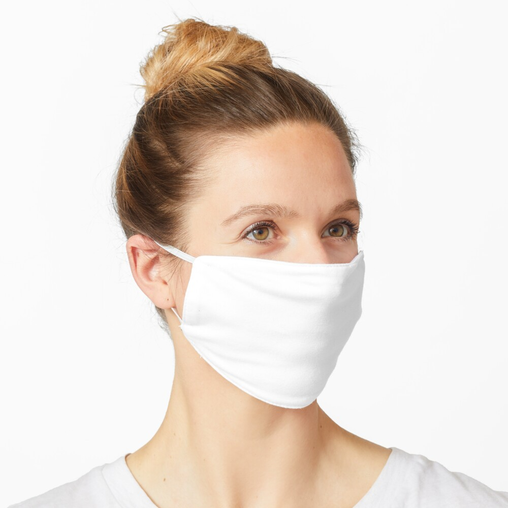Solid White Plain Color Background Trendy Mask By Tetete Redbubble