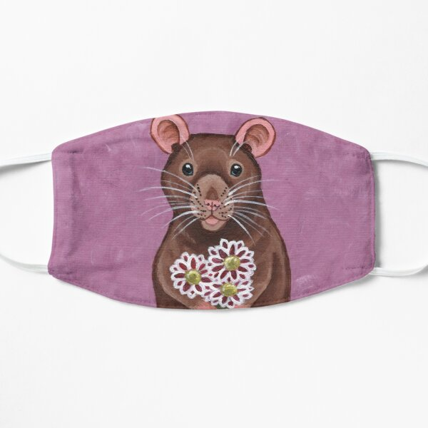 Rat and Flowers Mask