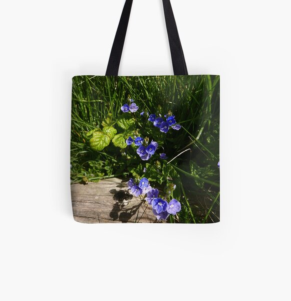Germander Speedwell (Veronica chamaedrys) All Over Print Tote Bag