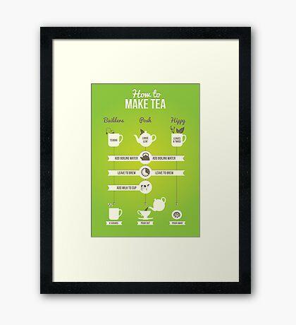 How to make tea Framed Print